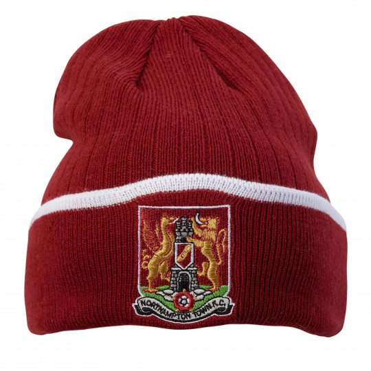 Northampton Town Essential Claret Cuff Adult Beani