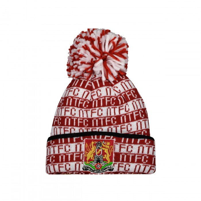 Northampton Town Text Pom Cuff Infant Beanie